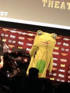 Tim League in a frog costume